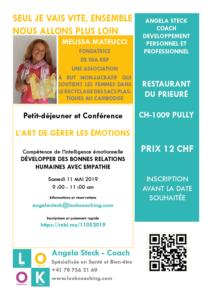 Lookcoaching organise une nouvelle Conférence avec Melissa Mateucci